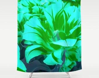 Tulip Shower Curtain Seafoam Green Shower Curtain Seafoam Green Tulip Shower Curtain Floral Shower Curtain Seafoam Green Floral Shower