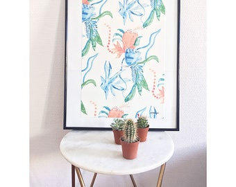 Watercolor poster