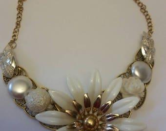 Handcrafted Vintage Enamel Necklace