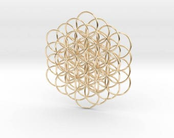 Knotted Flower Of Life Pendant