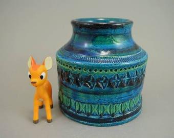 Vintage vase / Bitossi / Rimini Blue / Aldo Londi / 741 | Italy | 60s