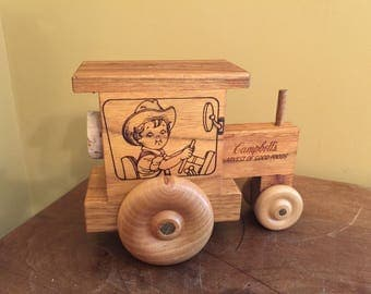 Vintage Campbell's Soup Tractor Bank/ Harvest of Good Foods Bank/Campbell's Collector