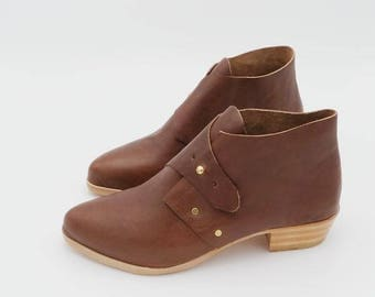 The Mussenden. Koniec Brown. 3cm. Handmade Boots. Comfort Shoes. Soft Shoes.