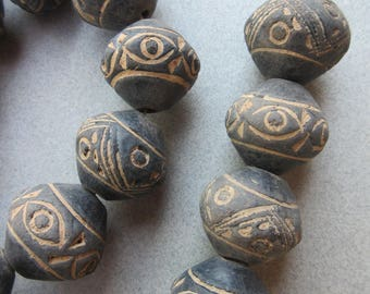 Old Mali Clay Beads [66866]