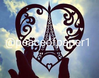 Paris Eifel Tower Papercut Template
