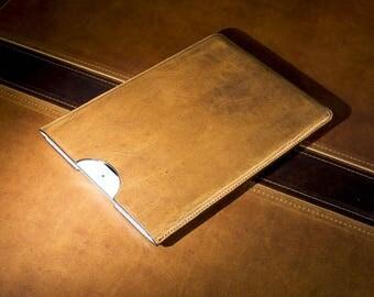 Slim Leather Sleeve for iPad, Tablet Sleeve, Personalized iPad Sleeve, Natural Leather iPad Case, iPad Holder