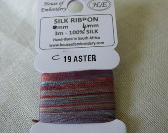 House of Embroidery collar 19 ASTER 4mm Silk Ribbon