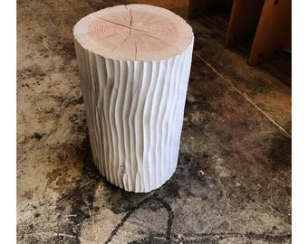/Table low stool / log, end table / nightstand wood style Scandinavian Hygge