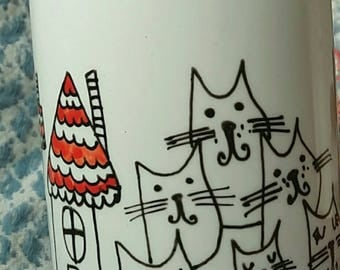 hand painted coffe mug