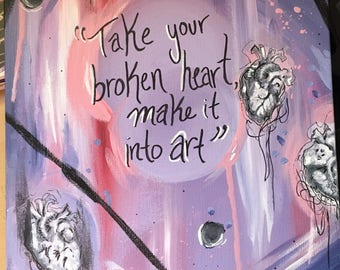 Carrie Fisher Meryl Streep quote painting