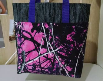 Girls Pink Camo Tote Bag Library Bag Preschool Bag Reusable Ladies Tote