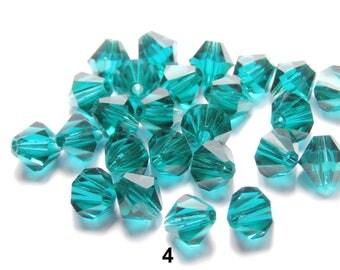 24 tops Swarovski 6 mm Emerald (4)