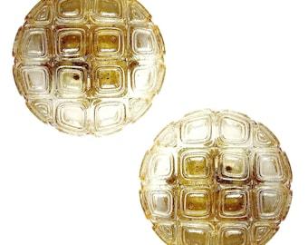 Vintage Pair Limburg Sconces Light Mid Century  Lamps Paire Applique Wall lamp Lighting Glass Kalmar Murano Crystal Brass