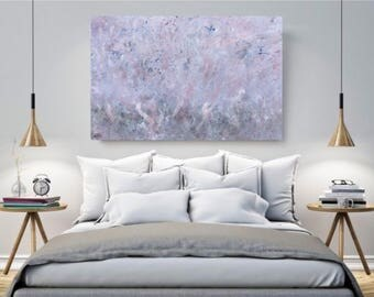 ABSTRACT ART PRINT, original painting, peach giclee print, bedroom art, home decor, artwork ~ pink fog