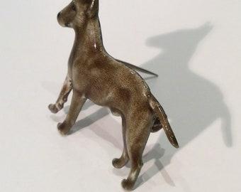 Kenart silver dog brooch