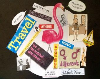Paper Scrapbooking Craft Kit, Scrapbook Ephemera, Scrapbook Embellishments, Journal Ephemera, Collage Kit