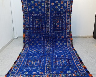 Gorgeous Colorful Highest Quality Beni Ourain Moroccan Berber rug 12'5 x 6'4