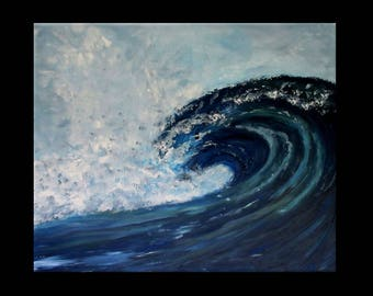 abstract painting 73 x 60 series waves acrylic modern painting
