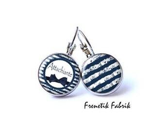 ★Attachiante - Marine★ GM blue earrings
