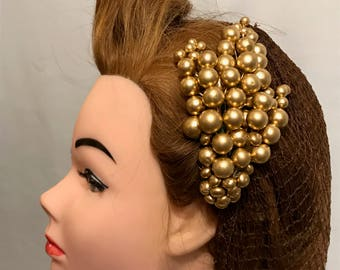 Vintage Style Gold Berry Spray Hair Clip