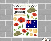 Anzac Day | Remembrance Day Planner Stickers