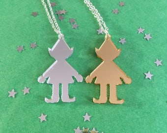 Cheeky Elf Pendant Necklace