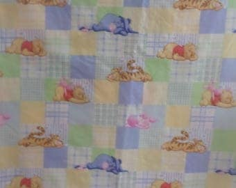 Poohs Days Patchwork fabric with Winnie the Pooh Tigger Piglet Eeyore cute pastel baby fabric SBTY 46 inches wide