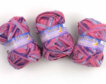 "Orion  ""Cotton Ribbon"" by Mango Moon, pinks and purples, sale!"