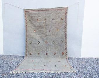 moroccan rug grey 5X8 area rug moroccan rugs morocco rug berber carpet area rug tribal rug