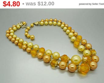 Vintage Double Strand Bead Necklace