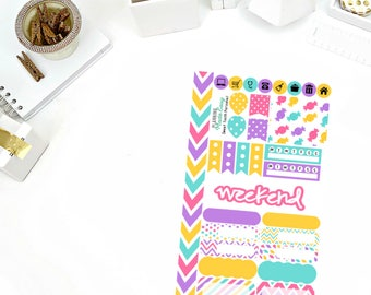 Sweet Tooth Personal Weekly Kit Stickers! Perfect for your Erin Condren Life Planner, calendar, Paper Plum, Filofax!