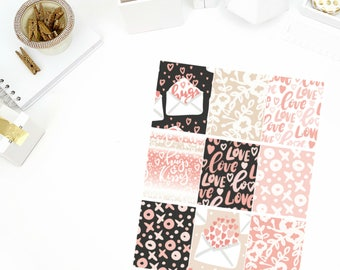 Love Letters Full Boxes Stickers! Perfect for your Erin Condren Life Planner, calendar, Paper Plum, Filofax!
