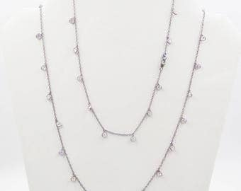 White Topaz Serling Silver Necklace