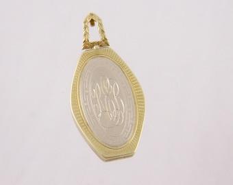 Antique 14 kt Gold  Six Sided Interesting PENDANT LOCKET