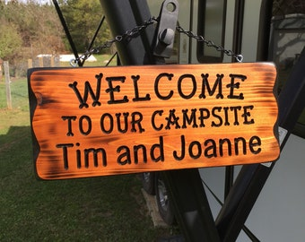 Camping Sign With Your Name