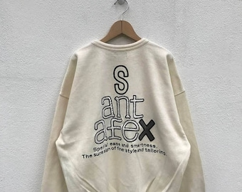 20% OFF Vintage Santafe Sweatshirt/Santafe Big Logo/Santafe Spell Out/Hip Hop/Streetwear