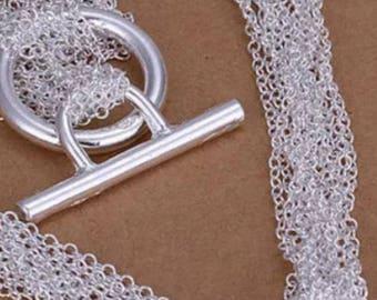 Open Heart Multi Chain Necklace