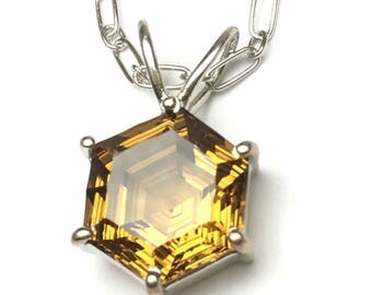 Beer quartz Sterling Silver Pendant,FREE SHIPPING