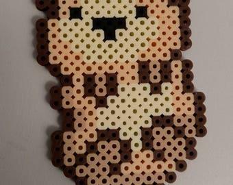 Kawaii otter perler bead pixel art magnet