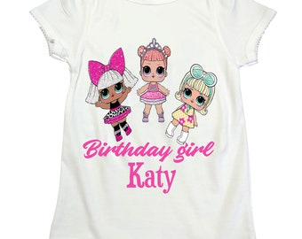 LOL surprise dolls LOL dolls shirt girl birthday shirt Lol Surprise girl name shirt Girl birthday Lol doll shirt lol surprise dolls birthday