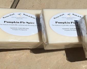 All Natural Goat's Milk Pumpkin Pie Soap - Great Fall Scent