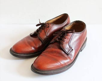 ON SALE 1970s DEXTER Red Brown Leather Oxford Shoes