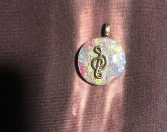 Orgonite music pendant