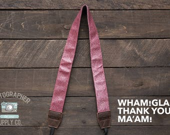 Handmade Cotton Camera Strap (Style: Wham! Glam! Thank you, Ma'am!) Photographer Supply Co Photo Gift