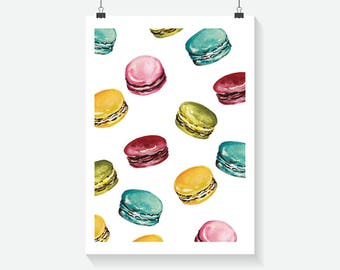 Macaron Print - Home Decor - Hippie Art Print -  Art Print - Summer Print- Floral Print- Supernatural