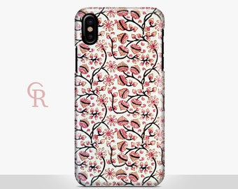 Floral iPhone 8 Case For iPhone 8 iPhone 8 Plus - iPhone X - iPhone 7 Plus - iPhone 6 - iPhone 6S - iPhone SE - Samsung S8 - iPhone 5