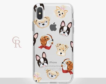 Dog iPhone X Clear Case For iPhone 8 iPhone 8 Plus - iPhone X - iPhone 7 Plus - iPhone 6 - iPhone 6S - iPhone SE - Samsung S8 - iPhone 5