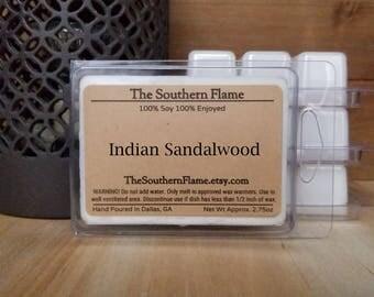 4 Packs of Indian Sandalwood Wax Melts - Free Shipping - Wax Cubes - Wax Tarts - Warmer Melts - Stocking Stuffers