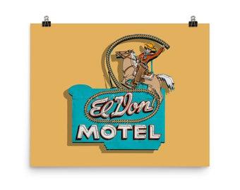 El Don Motel on Route 66 photo print