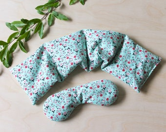 Matching Gift Set  |  Socket Sack & Payne Killer Aromatherapy Pillows  |  Eucalyptus Lavender Vanilla Unscented Heating Pad |  Mint Floral